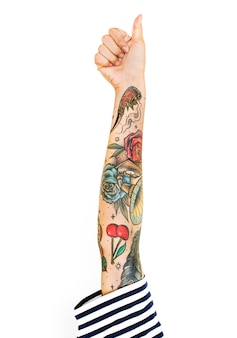 Tattooed arm