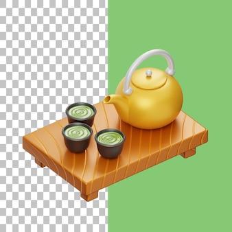 Чай 3d иллюстрация