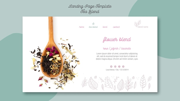 Tea blend landing page style
