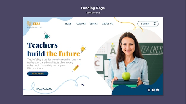 Teacher's day landing page template