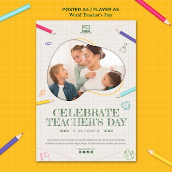 Teacher's day poster template