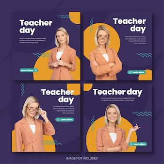 Шаблон поста в instagram ко дню учителя