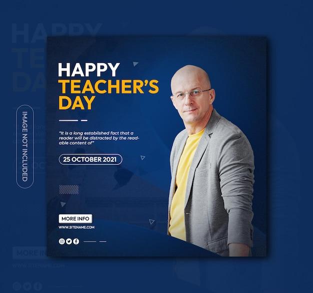 Teachers day social media or instagram post template