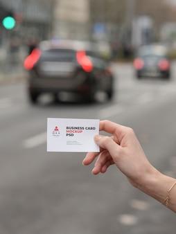 Team leader modern business card mockup
