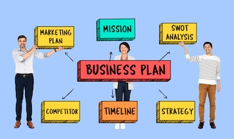 Team with a business plan