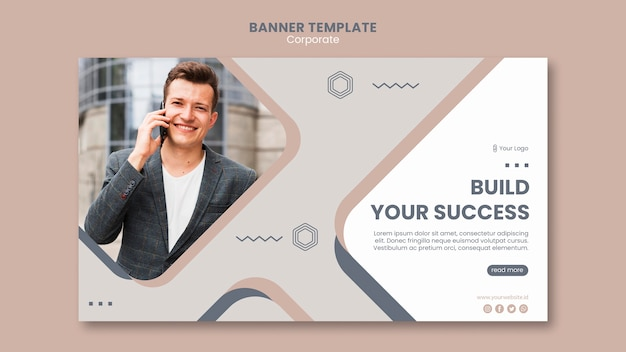 Team work template banner