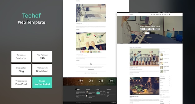 Веб-шаблон блога techef