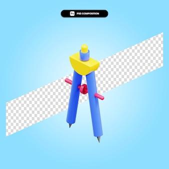 Технический чертеж компас 3d визуализации изолированных иллюстрация