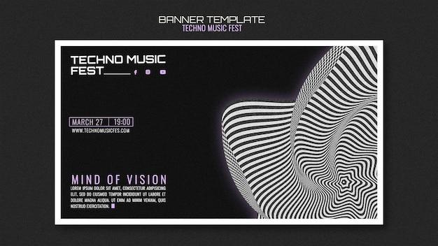 Banner di festival di musica techno