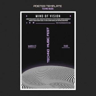 Techno music fest poster