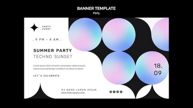 Modello di banner per feste techno