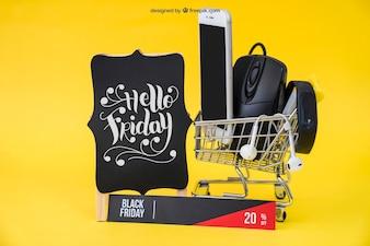Technological black friday mockup