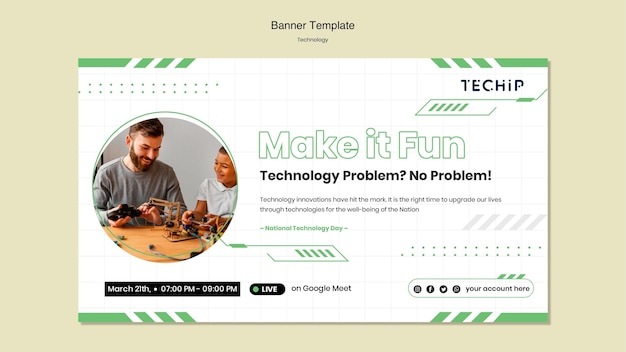 Technology banner template