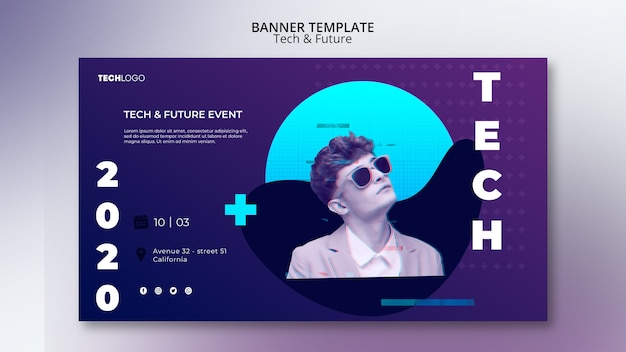 Technology concept for banner