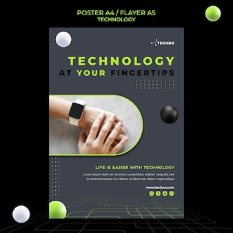 Modello di poster del concetto di tecnologia