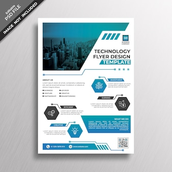 Technology flyer cover mockup