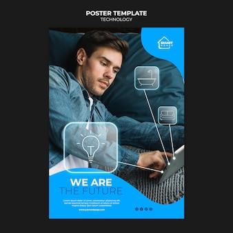 Modello di poster di tecnologia
