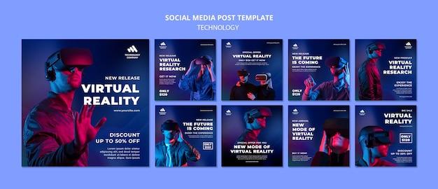 Technology social media post
