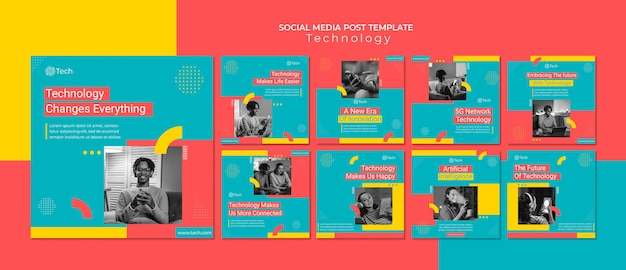 기술 소셜 미디어 게시물