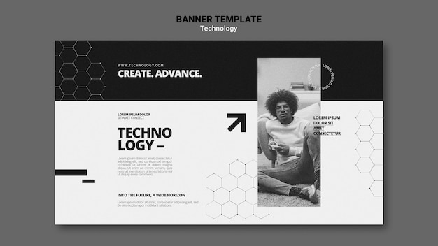 Technology in video games banner template