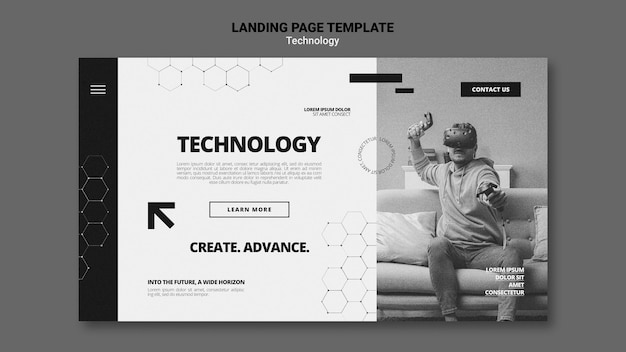 Technology in video games landing page