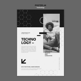Technology in video games poster template