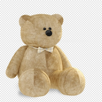 Teddy bear mockup in 3d rendering