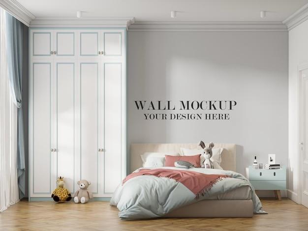 Teen room mockup wall