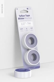 Teflon tape blister mockup, leaned