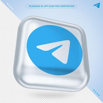 전보 3d 앱 아이콘 랜더링