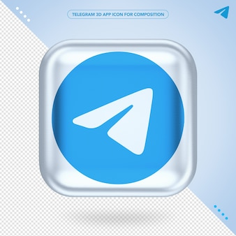Приложение telegram 3d icone randering
