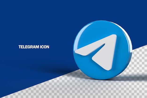 Телеграмма 3d значок дизайн рендеринга
