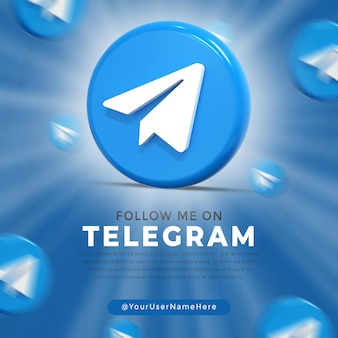 전보 광택 로고 및 소셜 미디어 게시물 템플릿