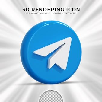Telegram glossy logo and social media icons