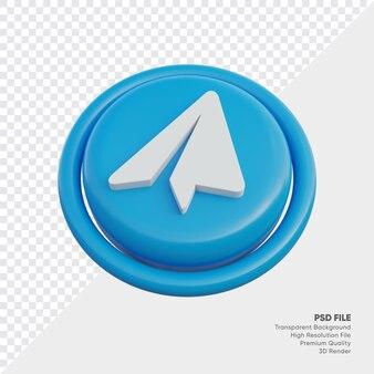 고립 된 라운드에서 전보 아이소메트릭 3d 스타일 로고 개념 아이콘