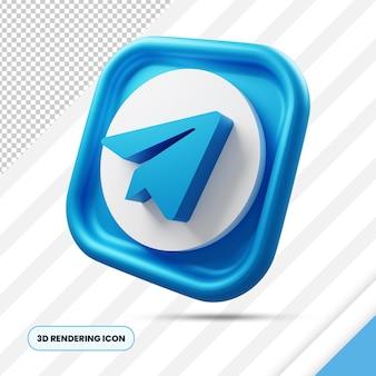 Telegram социальные сети 3d-рендеринга значок