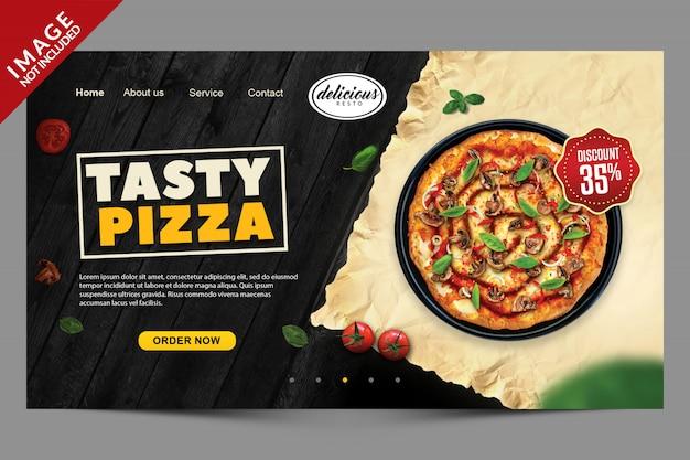소셜 미디어 게시물을위한 피자 레스토랑 용 템플릿 배너