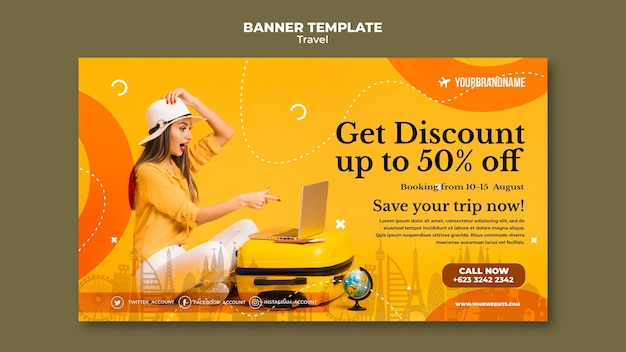 Template banner travel agency