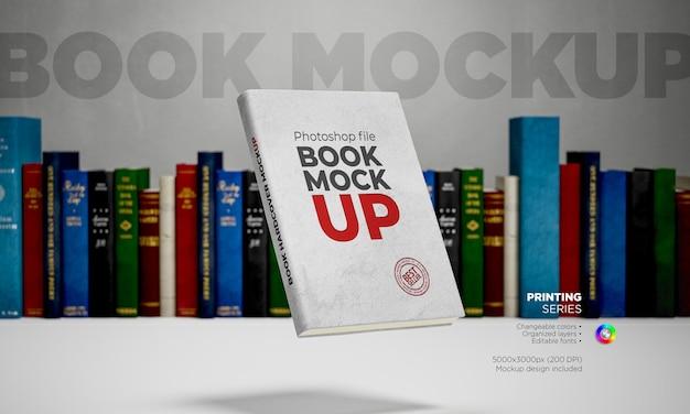 Template book mockup in 3d rendering