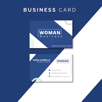 Template for business card for woman