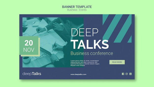 Template for business event banner