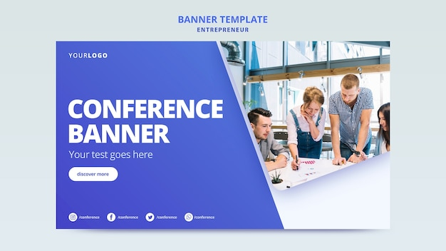 Template for company publicity banner