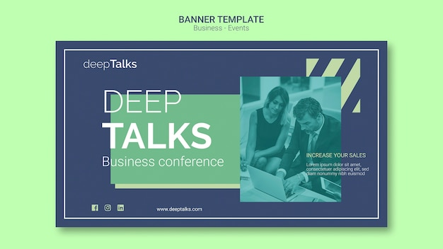 Template concept for business event banner
