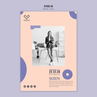 Template concept for business flyer