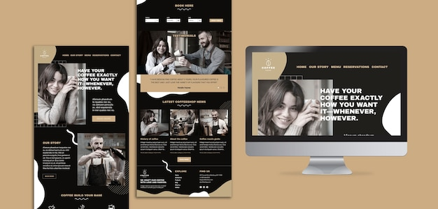 Template concept for coffee shop