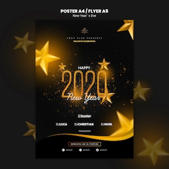 Template concept for new year eve flyer