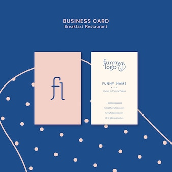 Template concept for restaurant business card