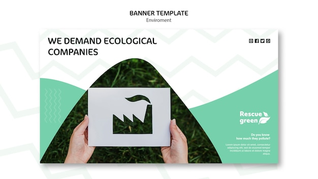 Template concept with environment for banner