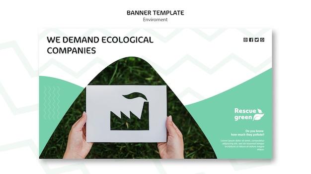 Concetto di modello con ambiente per banner