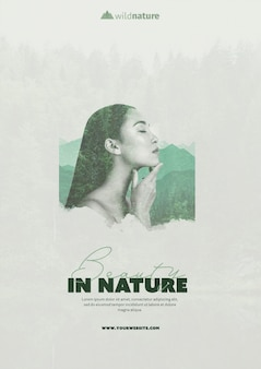 Template concept with wild nature